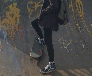 skate, aesthetic, and dark image
