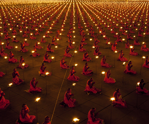 monk, light, and peace image