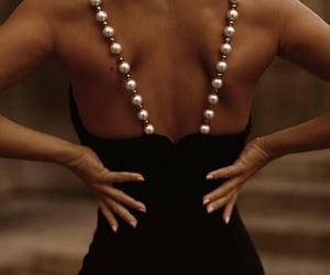 dresses, fashion, and pearls image