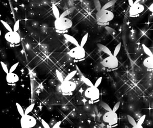 black and white, Playboy, and y2k image
