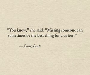 quotes, writer, and Lang Leav image