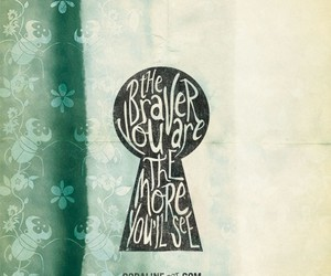 bravery, green, and typography image