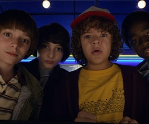 will byers, mike wheeler, and noah schnapp image