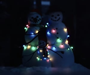 christmas, horror, and lights image
