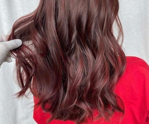 brown, brown hair, and red hair image