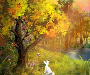 afternoon, autumn, and forest image