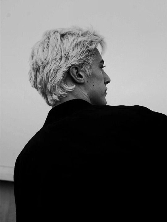 boys, model, and white hair image