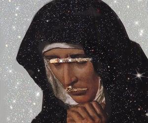 2000s, jesus, and glittery image