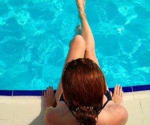 fun, pool, and swim suit image