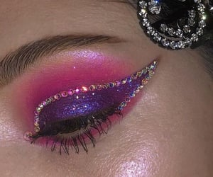makeup, eyeshadow, and glitter image