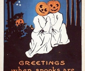 fall, ghosts, and Halloween image