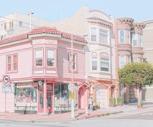 house, nice, and pink image