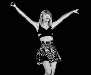 Taylor Swift, black and white, and girl image