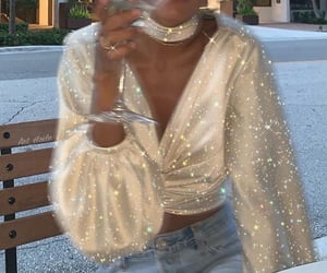 fashion, glitter, and outfit image
