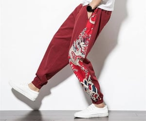 clothes, red, and pants image