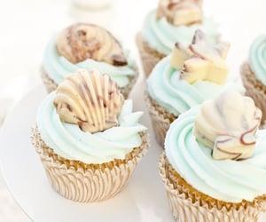cupcake and seashells image
