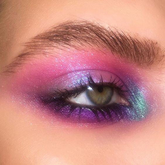 eyeshadow, glam, and glitter image