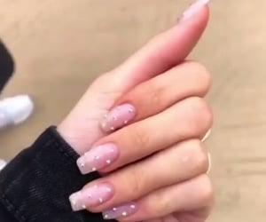 nails, acrylic, and nail polish image