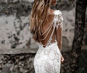 appeal, lace, and wedding image