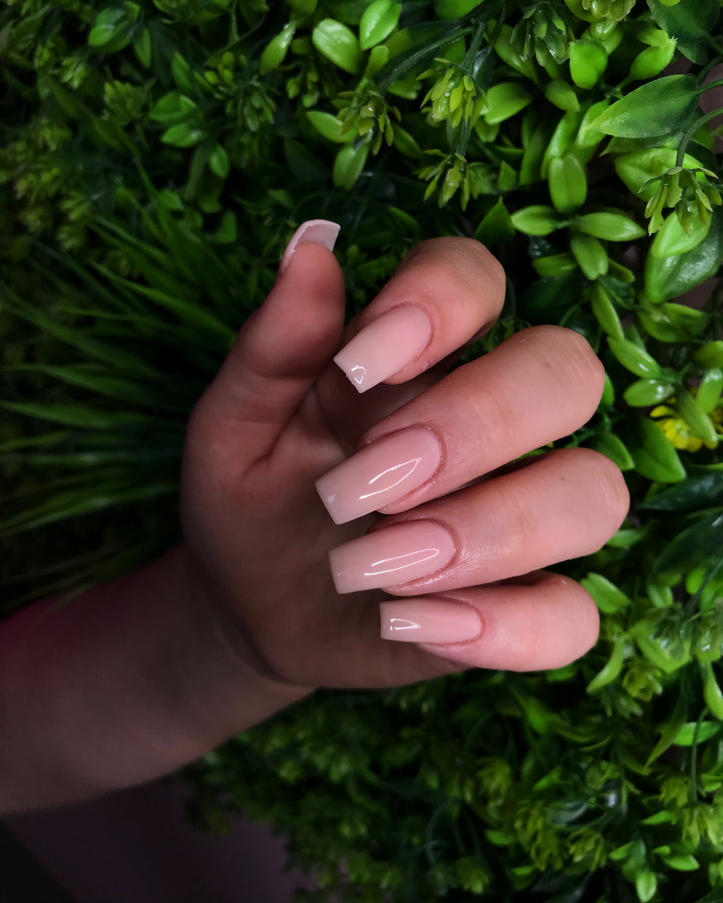 Nude, nails, and square image