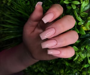 nails, Nude, and square image