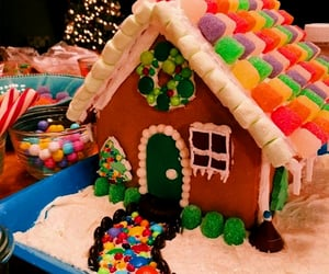 activities, gingerbread, and house image