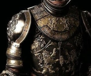 armor, metal, and weapons image