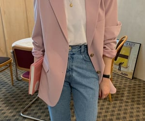 blazer, casual, and denim image