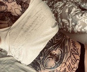 chest tattoo, Tattoos, and text tattoo image