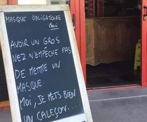 francais, masque, and blague image