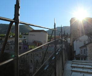 mostar, old town, and old bridge image
