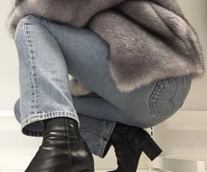 boots, faux fur, and inspo image
