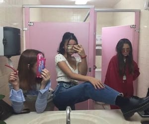 bathroom, bff, and friend image