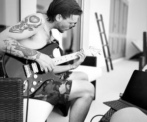 guitar, Tattoos, and one direction image