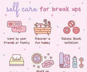 break up, relationships, and self love image
