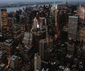 city, big city, and evening image