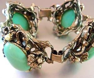 etsy, statement bracelet, and turquoise cabochons image