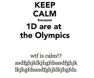 one direction, olympics, and keep calm image