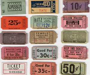 ticket and vintage image