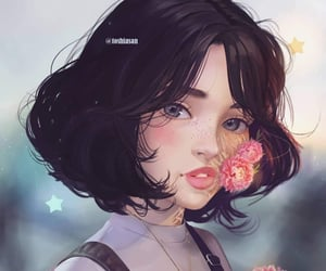 girl, art, and digital art image