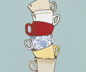 cup, art, and illustration image