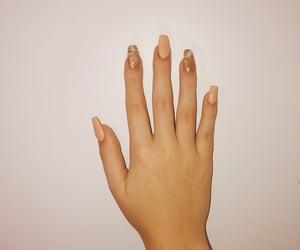 nails, gold nails, and perfect nails image