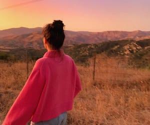 brunette, countryside, and faceless girl image