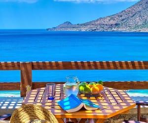 crete, Greece, and sea image