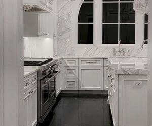 architecture, interior, and white kitchen image