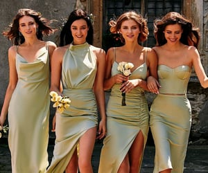 besties, bridesmaids, and dress image