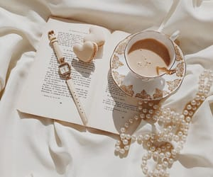 pearls, coffee, and macaroons image