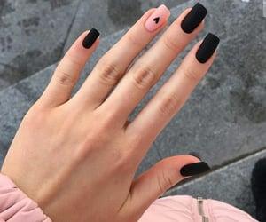 black, nails, and blacknails image