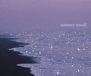 beach, glitter, and purple image