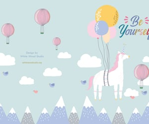 unicorn, beyourself, and whitewoodstudio image